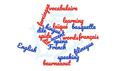 English words with french accent